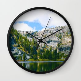 Desolation Wilderness Lake Reflection Wall Clock
