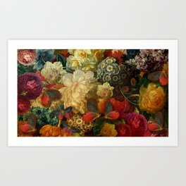 """""""Baroque Spring of Flowers and Butterflies"""" Art Print"""