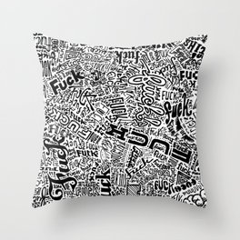 LOOK AT ALL THE FUCKS YOU DO NOT GIVE Throw Pillow