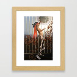 The Smoker Framed Art Print