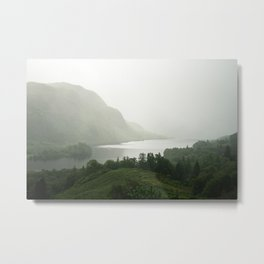 Foggy Landscape in Scottish Highlands Metal Print
