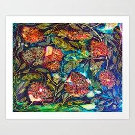 Exotic Floral Art Print