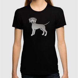 Weimaraner Dog Cute Cartoon Illustration T-shirt