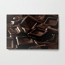 Mouth-melting Chocolate Metal Print