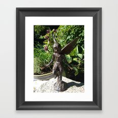 Fairy in the Garden Framed Art Print