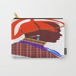 Kenya massai warrior digital art graphic design Carry-All Pouch
