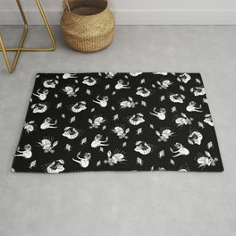 Pet Fish - Black Print Rug