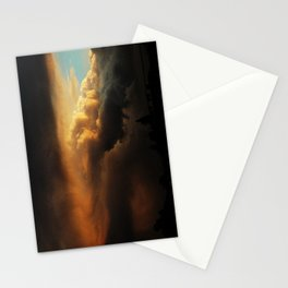 angry cloud Stationery Cards