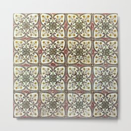 Floor Series: Peranakan Tiles 11 Metal Print