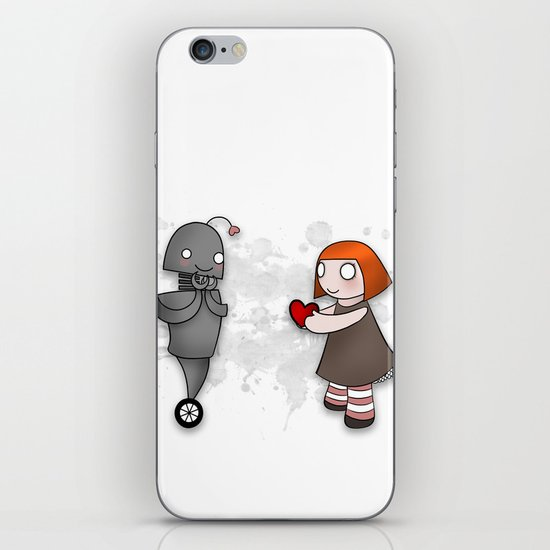 Robot Love iPhone & iPod Skin