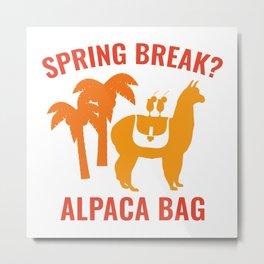 Spring Break? Metal Print