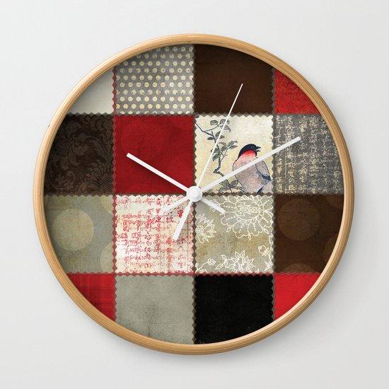 Ravenwood Patchwork Wall Clock