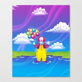 1997 It's That Scary Clown Canvas Print