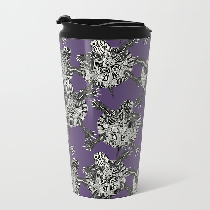 turtle party violet Metal Travel Mug
