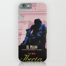 iberia fly with iberia the air vintage Poster iPhone Case