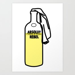 Absolut Rebel Art Print