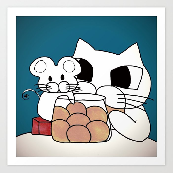 cat and mouse 579 Art Print