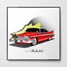 Christine - 1958 Plymouth Fury Metal Print