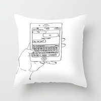 text Throw Pillows featuring Text by CreatureContours