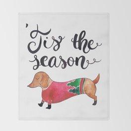 'Tis the Season for Christmas and Dog Lovers Throw Blanket