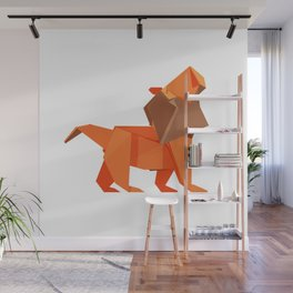 Origami Lion Wall Mural