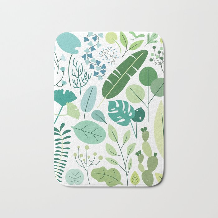 Botanical Chart Bath Mat
