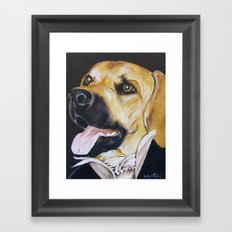 Mans Best Friend - Dog in Suit Framed Art Print