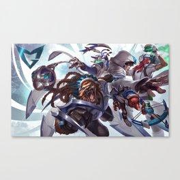 SSW Talon Rengar Thresh Twitch Singed Splash Art Wallpaper Official Artwork League of Legends Canvas Print