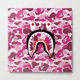 bape camo shark Metal Print