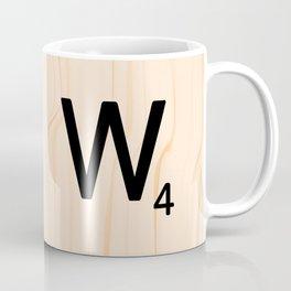 Scrabble Letter W - Scrabble Art and Apparel Coffee Mug
