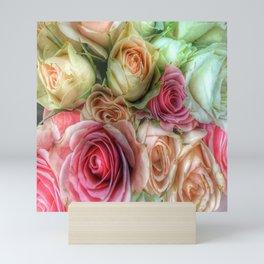 Roses - Pink and Cream Mini Art Print