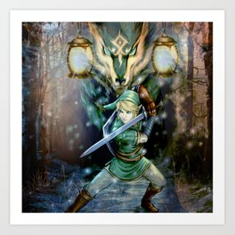 Legend Of Zelda Art Print