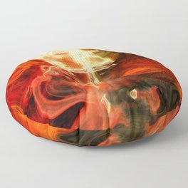 Fire Lights Floor Pillow