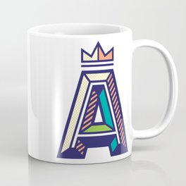 Crowned A Initial Coffee Mug