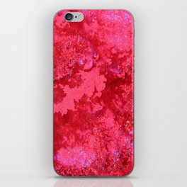 Pink Nebula Original Abstract Painting, Mixed Media On Canvas, Contemporary Artist, Abstract Artwork iPhone Skin