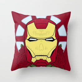 Day of the Dead Iron Man Throw Pillow