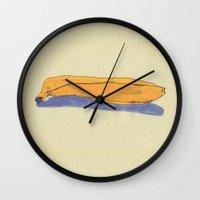 banana Wall Clocks featuring banana by Maybe Mary