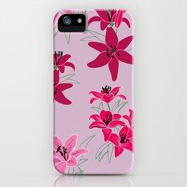 Lilien rosa iPhone Case