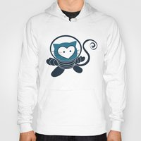 space cat Hoodies featuring Space Cat by Compassion Collective