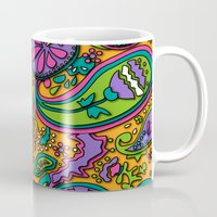 paisley Mugs featuring Paisley by Shelly Bremmer