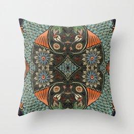 Oriental fish painting Throw Pillow