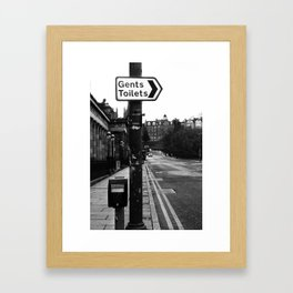 Gents Toilet Sign Framed Art Print