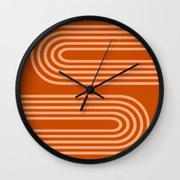 Terracotta Rainbow Wall Clock