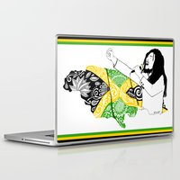 jamaica Laptop & iPad Skins featuring Jamaica -  Freedom Time by Art & Be