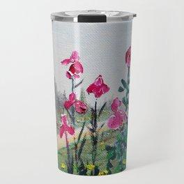 Magenta Plum Bearded Iris Waltz Travel Mug