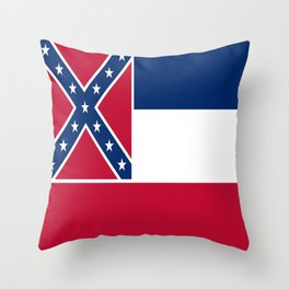 Flag of mississippi-flag of mississippi,south,Mississippian,usa, america,jackson,gulfport,Southaven Throw Pillow
