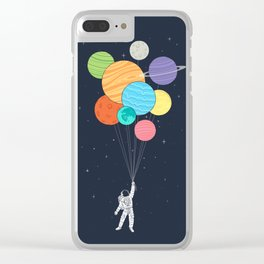 Planet Balloons Clear iPhone Case