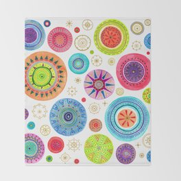 festive flowers Throw Blanket
