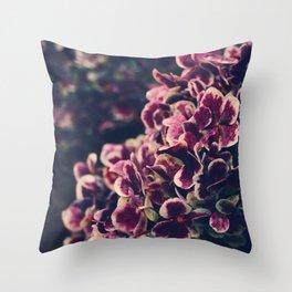 hydrangea - deep purple Throw Pillow