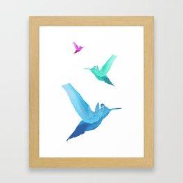 Little bird of happiness Framed Art Print